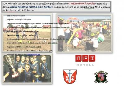Pozvánka na hasičské soutěže